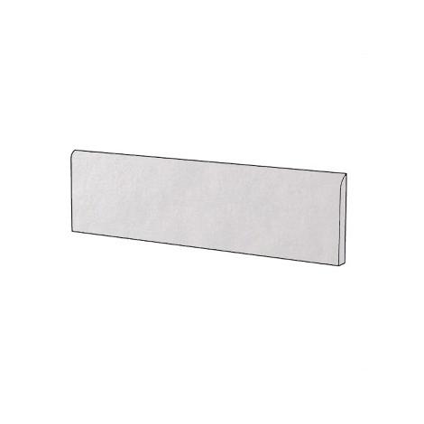 Battiscopa in gres porcellanato brillante stile moderno tinta unita colore Bianco White Gloss 9x60 cm - Architecture, Casalgrande Padana