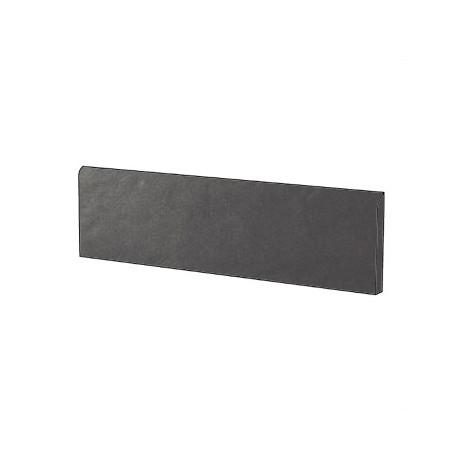 Battiscopa in gres porcellanato brillante stile moderno tinta unita colore Grigio Dark Grey Gloss 9x60 cm - Architecture, Casalgrande Padana