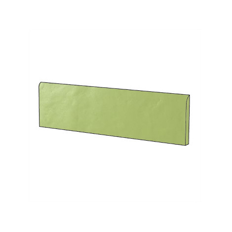 Battiscopa in gres porcellanato brillante stile moderno tinta unita colore Verde Acid Green Gloss 9x60 cm - Architecture, Casalgrande Padana