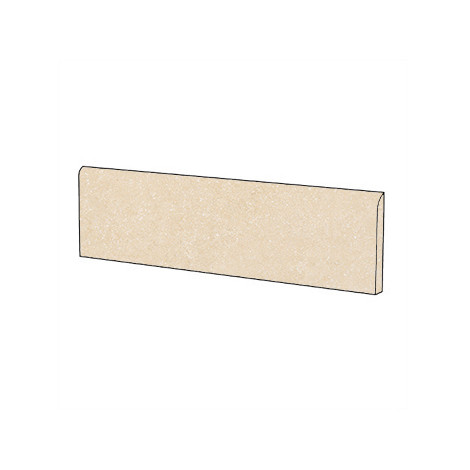 Battiscopa in gres porcellanato colore Ivory 5.7x60 cm - Geotech, Blustyle