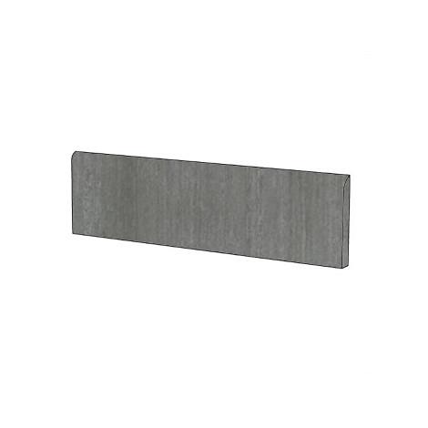 Battiscopa in gres porcellanato effetto cemento cassero colore Antracite 9x60 cm - Cemento, Casalgrande Padana