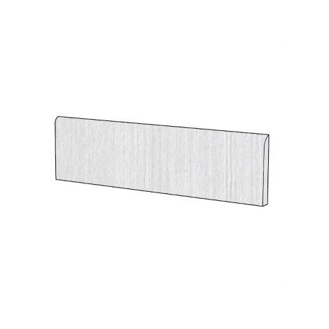Battiscopa in gres porcellanato effetto cemento cassero colore Bianco 9x75,5 cm - Cemento, Casalgrande Padana