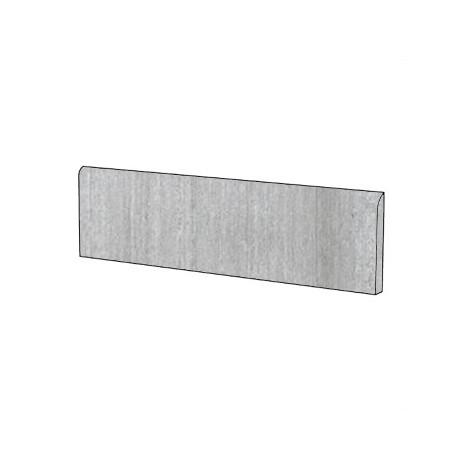 Battiscopa in gres porcellanato effetto cemento cassero colore Grigio 9x75,5 cm - Cemento, Casalgrande Padana