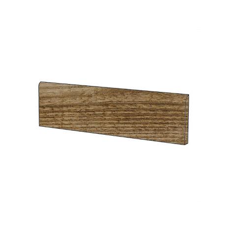 Battiscopa in gres porcellanato  effetto legno, 10x60cm Rhone Cru - Barrique, Blustyle