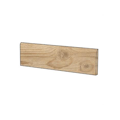 Battiscopa in gres porcellanato effetto legno rustico, 10x60 cm Loire Cru - Barrique, Blustyle
