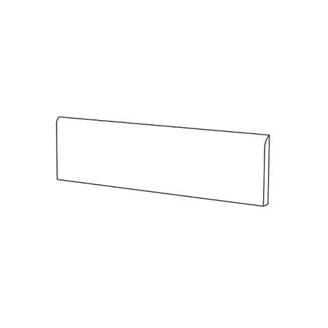 Battiscopa in gres porcellanato effetto resina levigato stile moderno colore Bianco 8x90 cm - Blutech, Blustyle