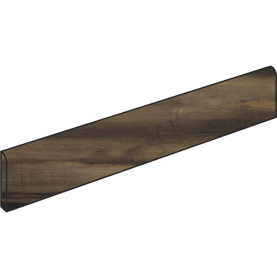 Battiscopa in gres porcellanato moderno effetto legno/metallo, Rosso, 9x60 cm - Nori, Dom Ceramiche
