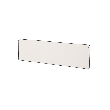 Battiscopa in gres porcellanato moderno tinta unita colore Avorio Light Ivory 9x60 cm - Architecture, Casalgrande Padana