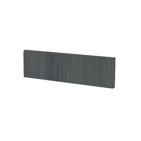 Battiscopa moderno effetto legno in gres porcellanato colore Antracite 9x120 cm - Tavolato, Casalgrande Padana