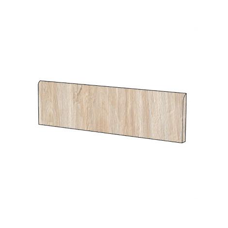 Battiscopa moderno effetto legno in gres porcellanato colore Grano 9x120 cm - Tavolato, Casalgrande Padana