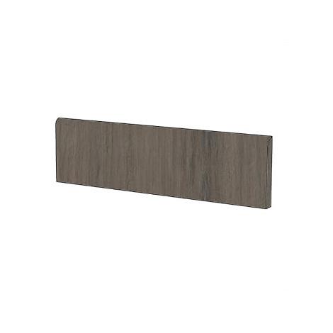 Battiscopa moderno effetto legno in gres porcellanato colore Marrone Scuro 9x120 cm - Tavolato, Casalgrande Padana