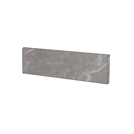 Battiscopa stile classico effetto marmo naturale in gres porcellanato colore Bardiglio Imperiale 9x59 cm - Marmoker, Casalgrande Padana