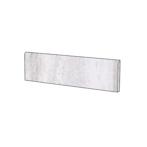 Battiscopa stile classico effetto marmo naturale in gres porcellanato colore Bianco Olimpo 9x59 cm - Marmoker, Casalgrande Padana