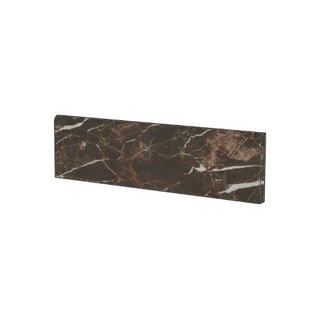 Battiscopa stile classico effetto marmo naturale in gres porcellanato colore Marrone Saint Laurent 9x59 cm - Marmoker, Casalgrande Padana