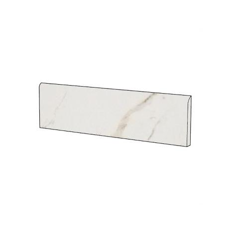 Battiscopa stile classico effetto marmo naturale in gres porcellanato colore Statuario Oro 9x59 cm - Marmoker, Casalgrande Padana