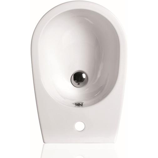 Bidet a terra ad altezza maggiorata monoforo in ceramica bianca h50 cm - Vignoni, Simas