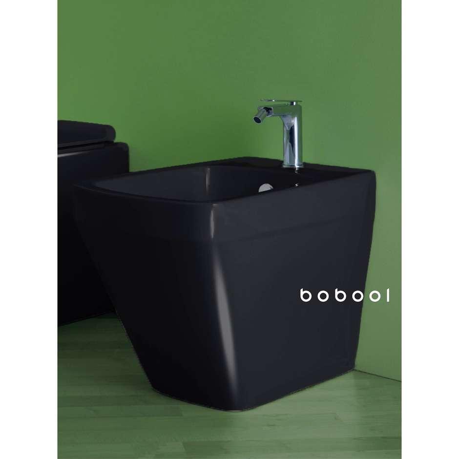 Bidet a terra filomuro design moderno nero lucido - Baden Baden, Simas