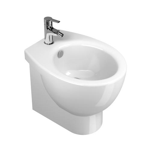 Bidet a terra in ceramica bianca salvaspazio 50x37 cm - New Light, Catalano