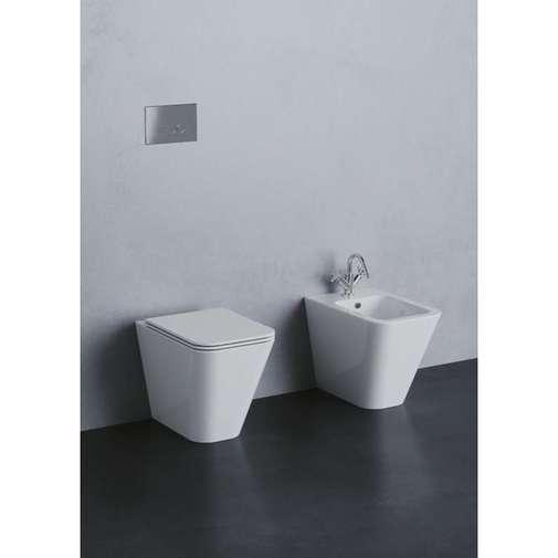 Bidet a terra moderno in ceramica bianca - Build, Azzurra Ceramiche