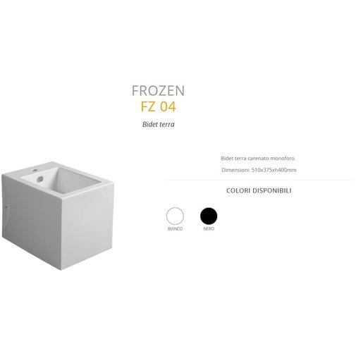 Bidet a terra squadrato stile minimale in ceramica bianca - Frozen, Simas