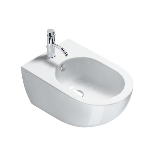 Bidet sospeso moderno in ceramica bianca 54x35 cm - Sfera, Catalano