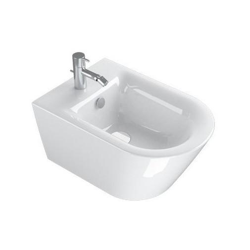 Bidet sospeso moderno in ceramica bianca 55x35 cm - Zero, Catalano