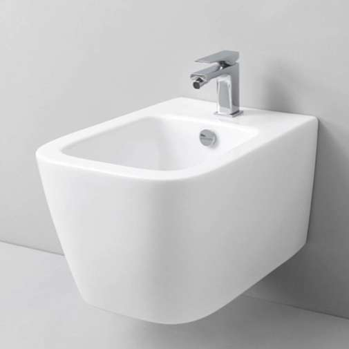 Bidet sospeso moderno in ceramica bianca - A16, Art Ceram