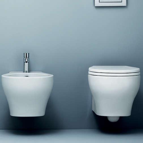 Bidet sospeso moderno in ceramica bianca - Vera, Azzurra Ceramiche