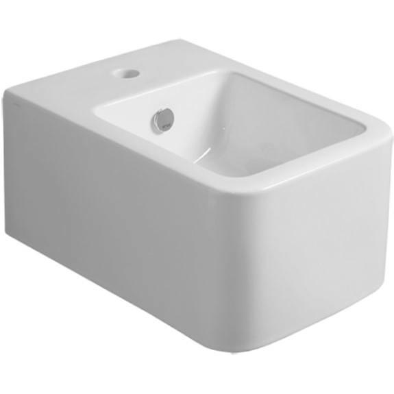 Bidet sospeso squadrato in ceramica bianca - Flow, Simas
