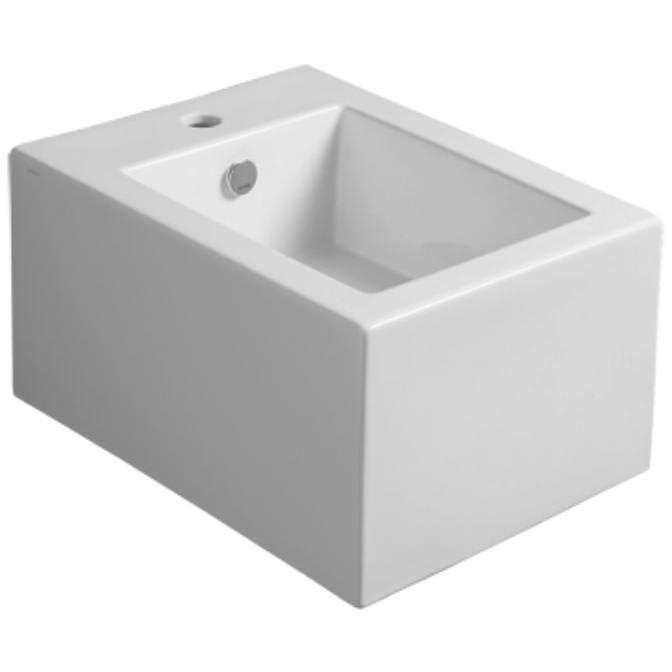 Bidet sospeso squadrato stile minimale in ceramica bianca - Frozen, Simas