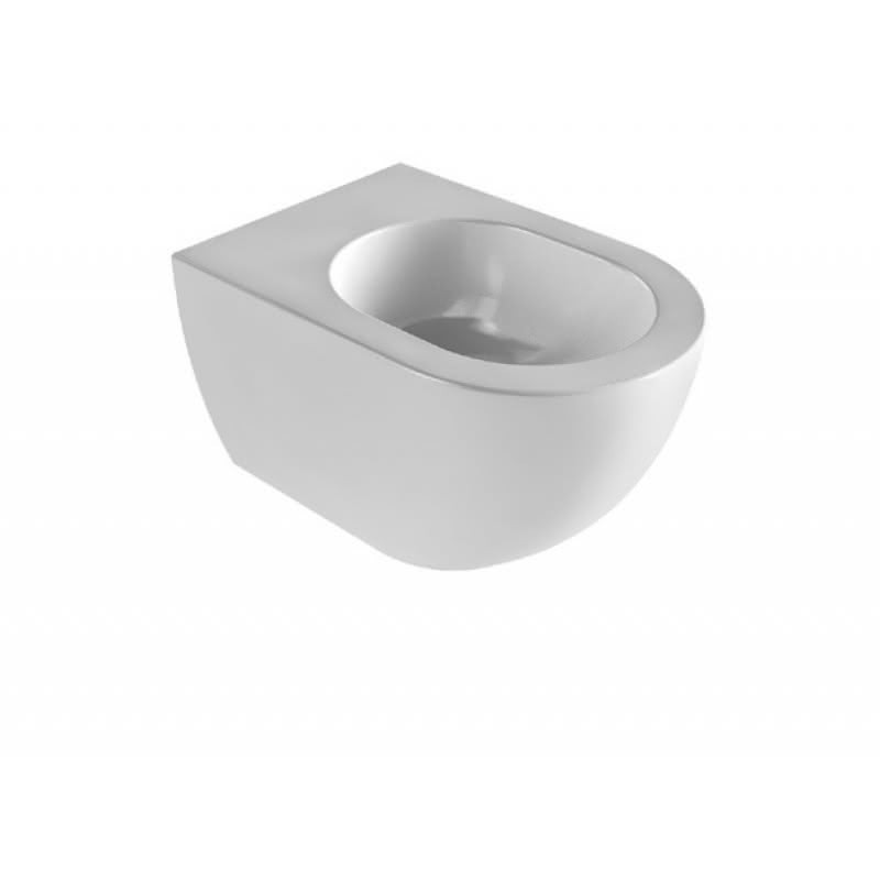 Bidet sospeso stile moderno in ceramica bianca - Comoda, Azzurra Ceramica
