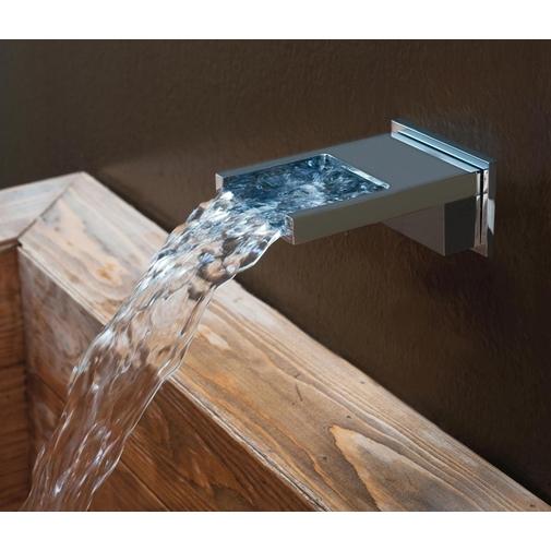 Bocca di erogazione a cascata cromo, per vasca e doccia, squadrata - Bossini