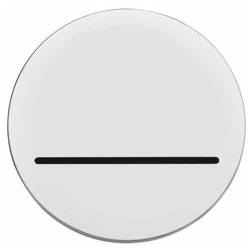 Bocca di erogazione a fessura, cromo, per vasca e doccia, rotonda 10 cm - Olè Round, Bossini