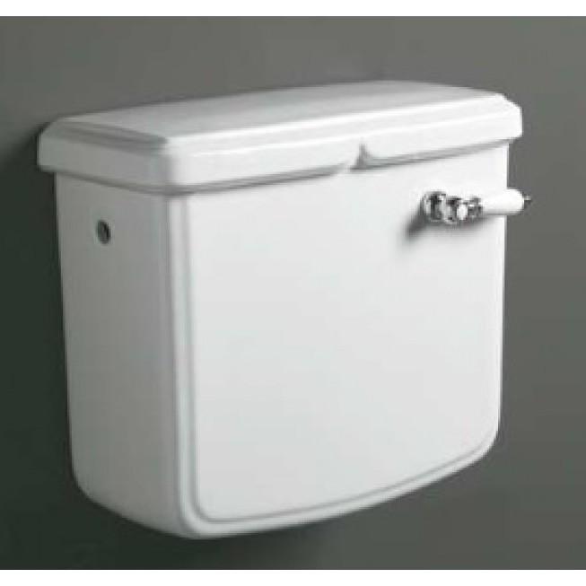 Cassetta a zaino con foro frontale per vaso stile classico in ceramica bianca - Arcade, Simas