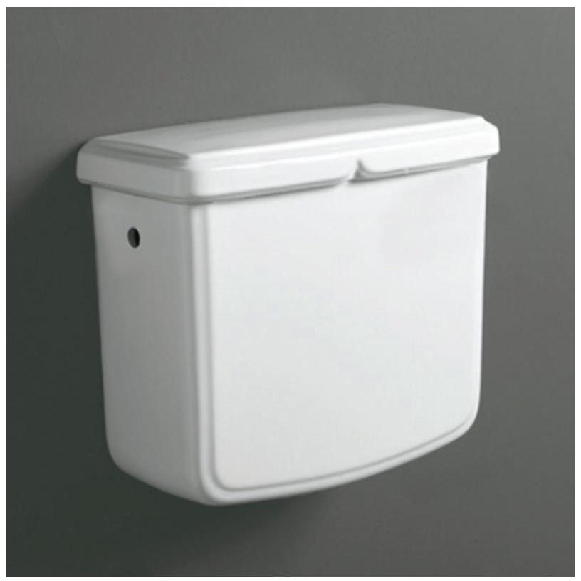 Cassetta alta per vaso stile classico in ceramica bianca - Arcade, Simas