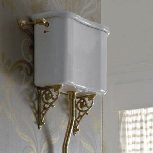 Cassetta alta stile retrò in ceramica bianca - Palladio, Sbordoni