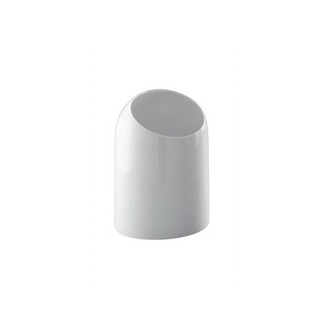 Cestino porta rifiuti da bagno in ABS bianco stile minimale - Colombo Design