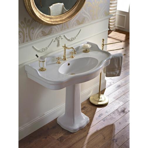 Colonna classica per lavabo in ceramica bianca - Palladio, Sbordoni