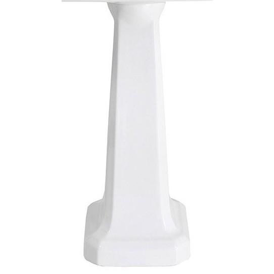 Colonna classica per lavabo in ceramica bianca - Romana, Sbordoni