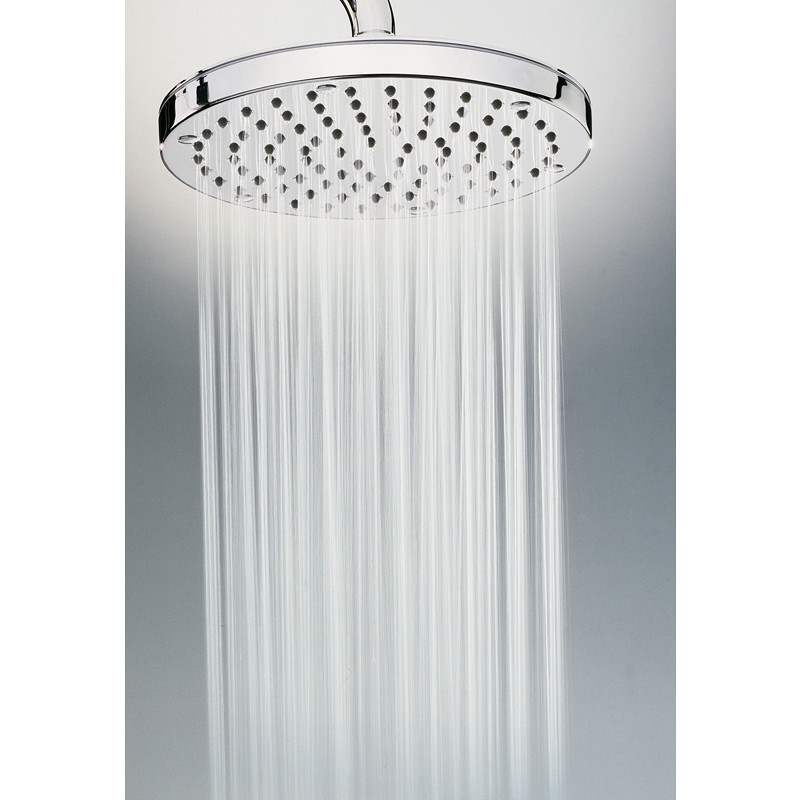 Colonna doccia a muro con doccia saliscendi 3 funzioni e miscelatore termostatico, soffione rotondo 20 cm, cromo - Oki, Bossini