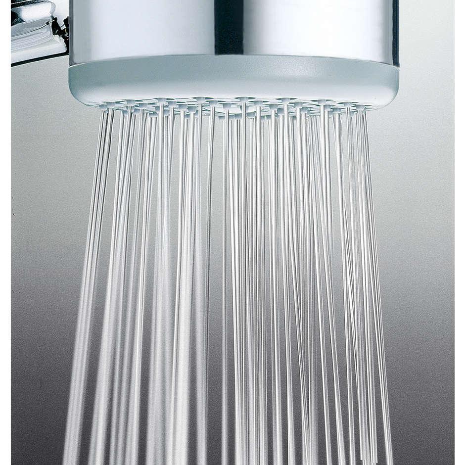 Colonna doccia a muro con soffione rotondo diametro 20 cm, e doccetta saliscendi, altezza 59 cm - Gio Renovation, Bossini
