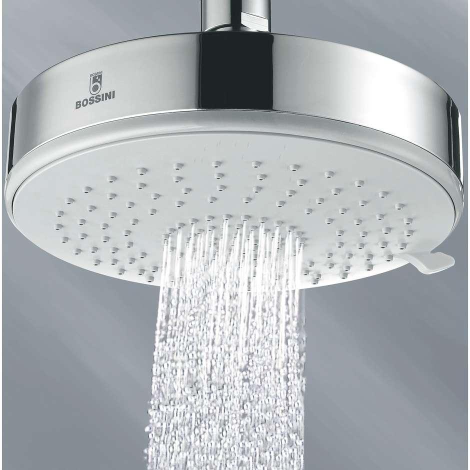 Colonna doccia a muro, miscelatore , soffione rotondo 14 cm a 3 getti, con flessibile antitorsione cromo - Dinamic, Bossini