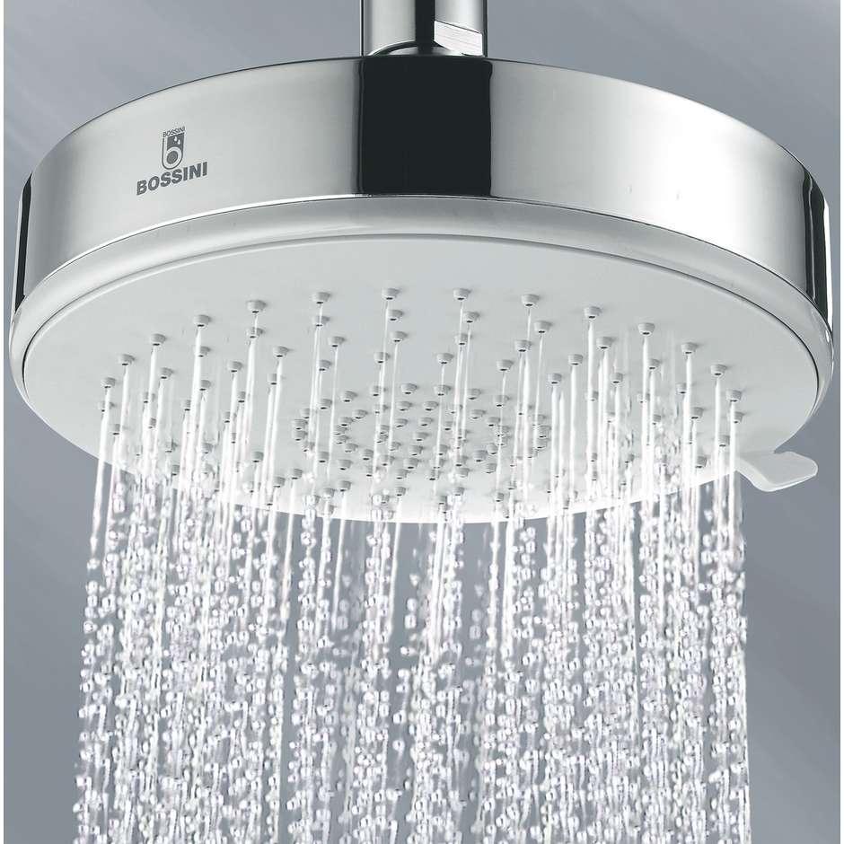 Colonna doccia a muro, miscelatore termostatico, soffione rotondo 14 cm a 3 getti, con flessibile antitorsione cromo - Dinamic, Bossini
