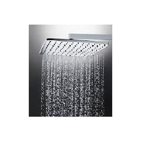 Colonna doccia a muro, soffione quadrato 23x23 cm, doccetta a due getti e miscelatore termostatico - Cosmo, Bossini