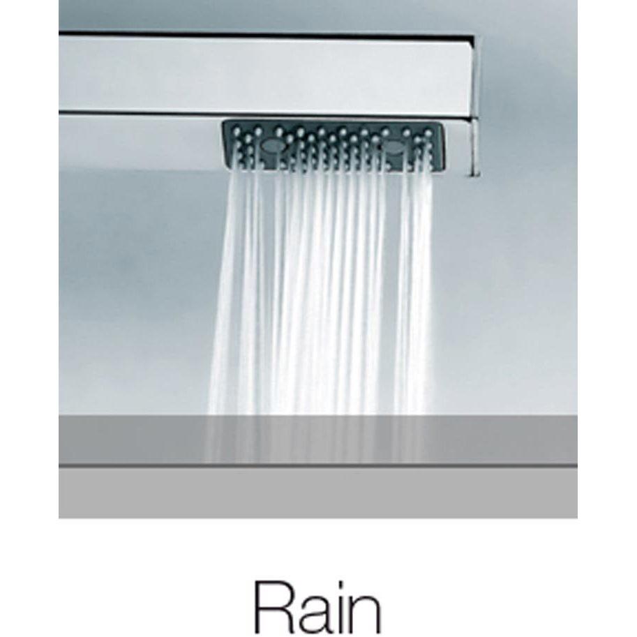 Colonna doccia a muro stile innovativo, con soffione quadrato 26x26 cm, doccetta saliscendi e miscelatore - Cosmo, Bossini