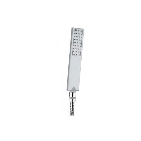 Colonna doccia a muro stile minimale, con soffione quadrato 28x28 cm, doccetta e miscelatore termostatico - Cosmo, Bossini