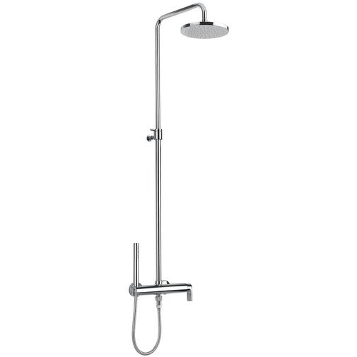 Colonna doccia con soffione diametro 20 cm, doccetta di servizio e miscelatore stile moderno - Simple, Rubinetteria Bugnatese