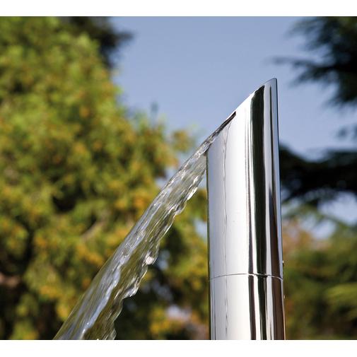 Colonna doccia da esterno, dal design esclusivo, in acciaio inox con doccetta di servizio e miscelatori progressivi - Aquabambù, Bossini