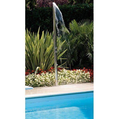 Colonna doccia da esterno, dal design esclusivo, in acciaio inox con rubinetto lavapiedi e miscelatori progressivi - Aquabambù, Bossini