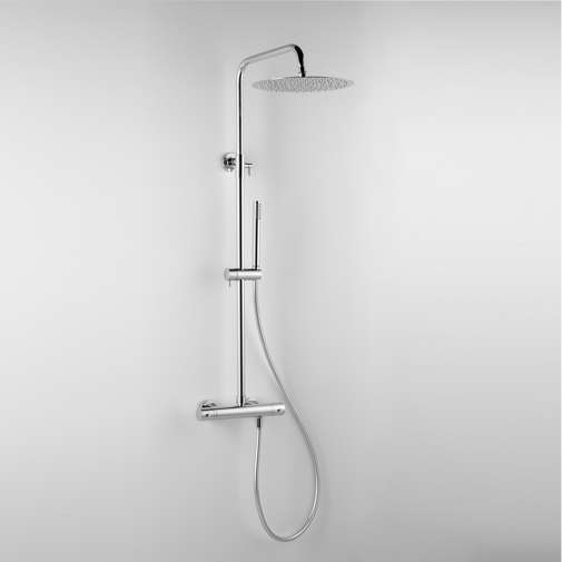 Colonna doccia termostatica con soffione e doccetta saliscendi 25 cm - Tetis, Bossini